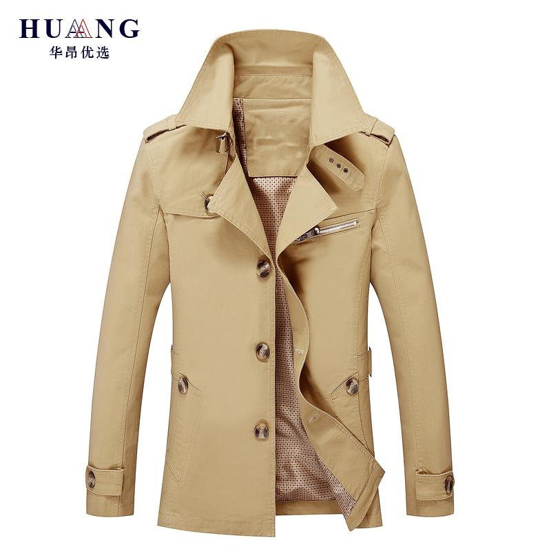 ee3a42404 Brand Male Single Breasted Overcoat Long Jacket Coat Men Men S ...