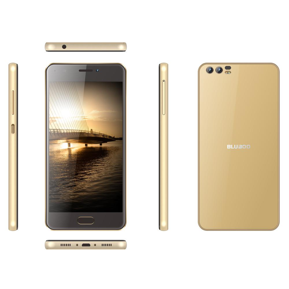 """Free DHL Bluboo D2 Dual Rear Cameras Smartphone 5.2"""" MT6580A Quad-core 1.3GHz Android 6.0 3300mAH 1GB RAM 8GB ROM 3G WCDMA Mobile Phone"""