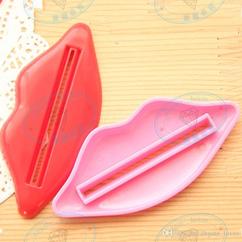Sexy Hot Lip Kiss Bathroom Tube Dispenser Toothpaste Cream Squeezer Home Tube Rolling Holder Squeezer GBN-138
