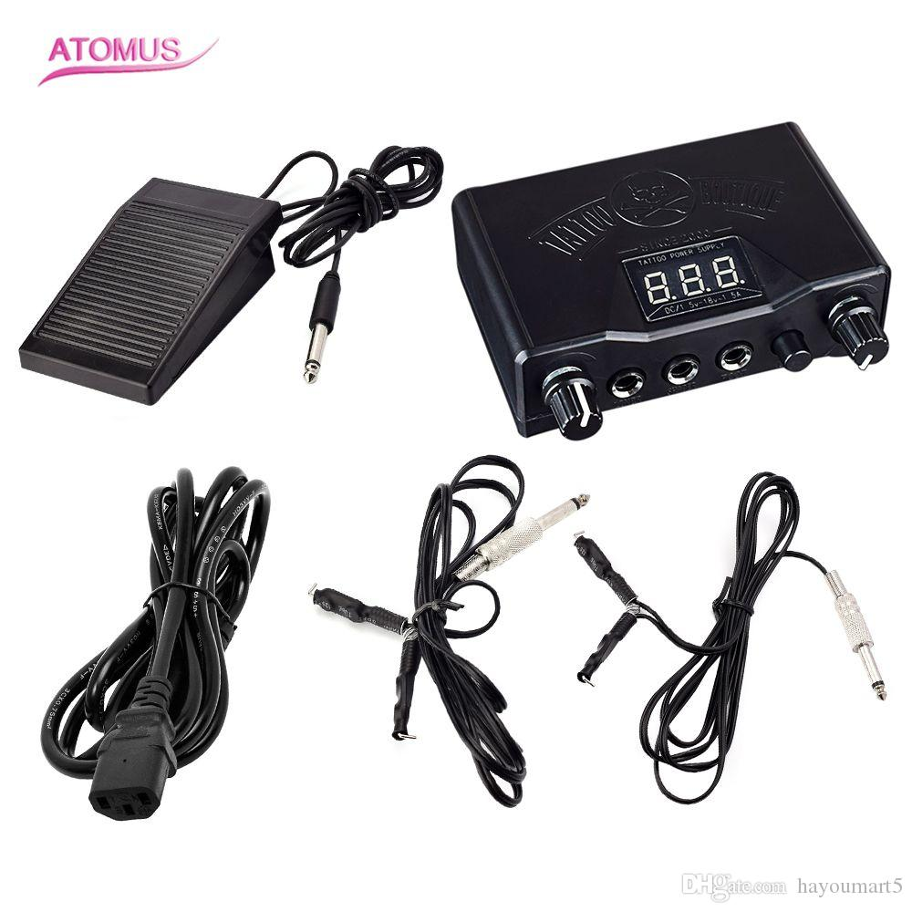 Professional Tattoo Black Stable Tattoo Power Supply Digital Lcd