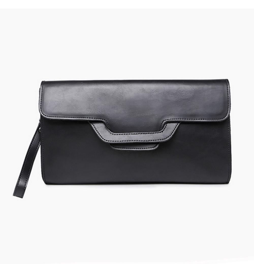 Men S PU Leather Clutch Bag Black Leisure Envelope Bag Business Fashion  Weaving File Package Portable Wrist Ladies Handbags Leather Handbags From  ... a25b8263c97d7