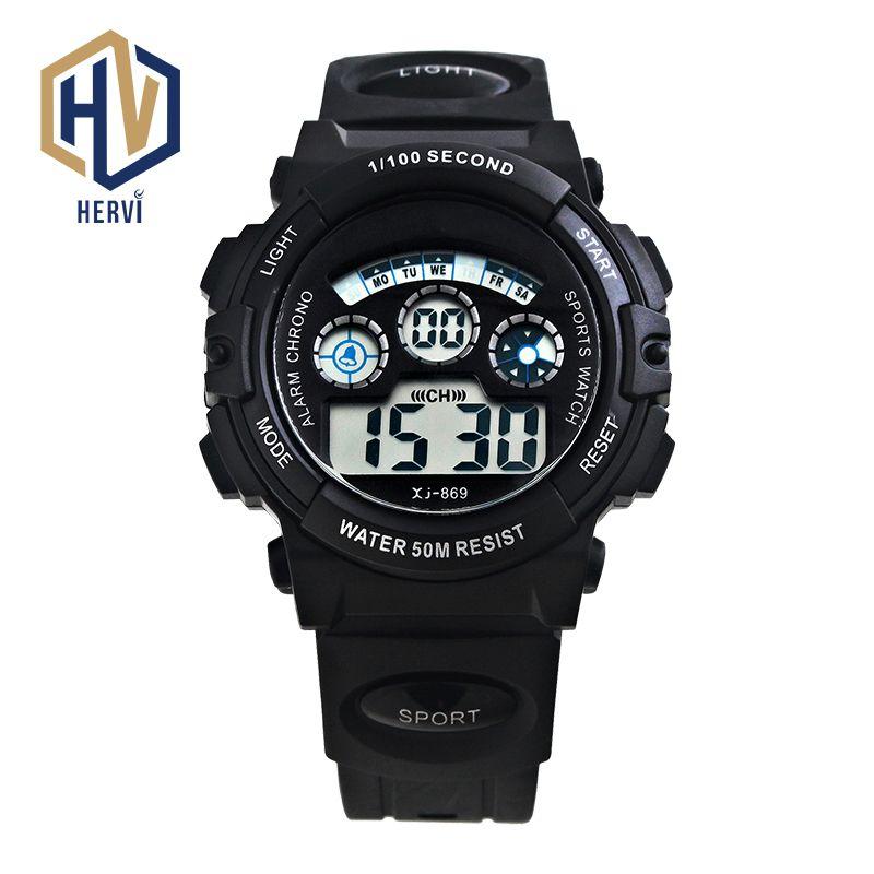 fc54b4553 2018 Top Brand Dropshipping Sport Men Watches Digital Electronic Watch 50M  Waterproof Wristwatch Automatic Watch Reloj H869 B Designer Watch Discount  Watch ...