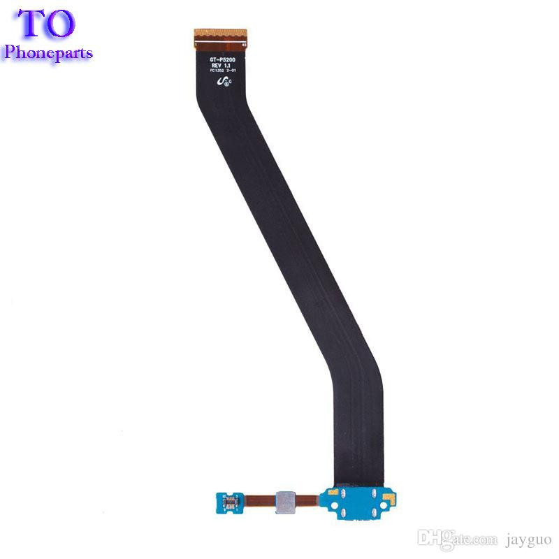 Para Samsung Galaxy Tab 3 10.1 P5200 P5210 Cargador Carga Cable flexible Puerto de conector de base USB + Cables de micrófono