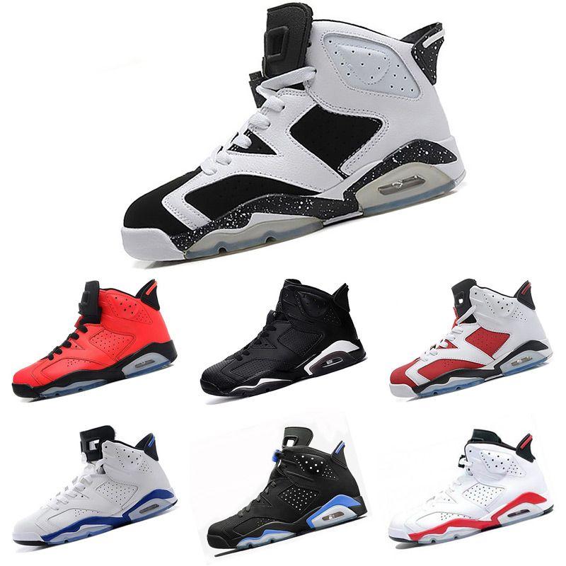 watch 70fe5 dac1f Acheter 2018 Nouveau 6 VI Chaussures De Basket Homme Olympique Rouge Noir  Golden Moment Pack Athlétisme Sport Bleu Carmine Infrared Sneakers Oreo De   90.24 ...