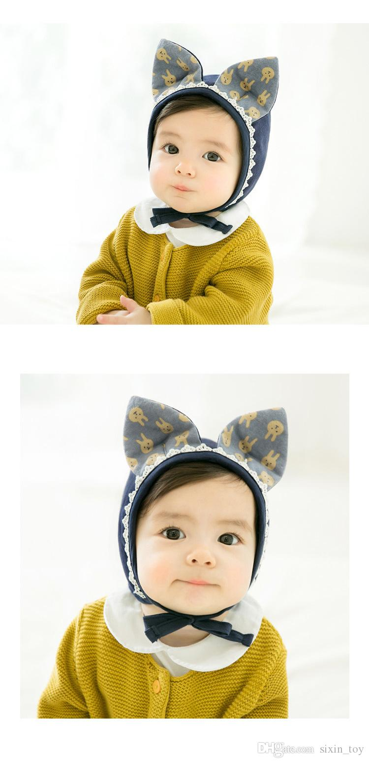 Autumn Spring Winter Toddler Infant Newborn Baby Adorable Rabbit Ear Hat Baby Bunny Beanie Caps Photo Props