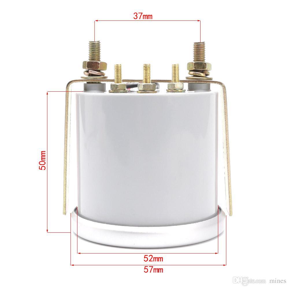 Cnspeed 52mm Evrensel LED Duman Len 12 V Yağ sıcaklık Ölçer Sıcaklık sensörü ile Ölçer