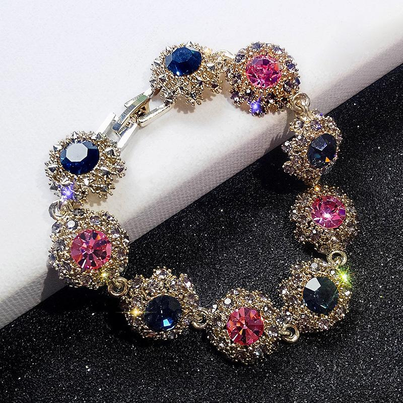 2018 Hot New Arrive Fashion Women Hand Jewelry Bangles Vintage Charm Shiny Rhinestone  Bracelets Trendy Accessories Cute Gifts Bracelet Bangles Chunky ...