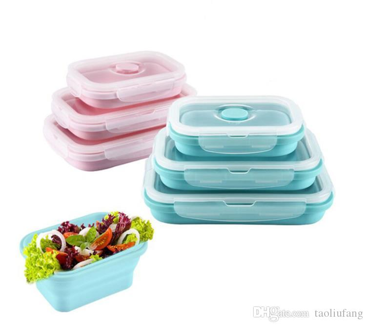 2018 Portable Silicone Lunch Box Folding Picnic Food Storage Container Kitchen Microwave Tableware Household Outdoor Food Boxes From Taoliufang ...  sc 1 st  DHgate.com & 2018 Portable Silicone Lunch Box Folding Picnic Food Storage ...