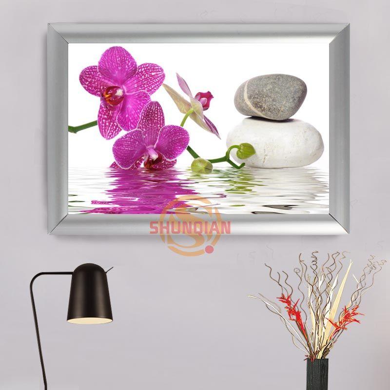 Großhandel Steinblumen Aluminiumlegierung Malerei Frame Home Decor ...