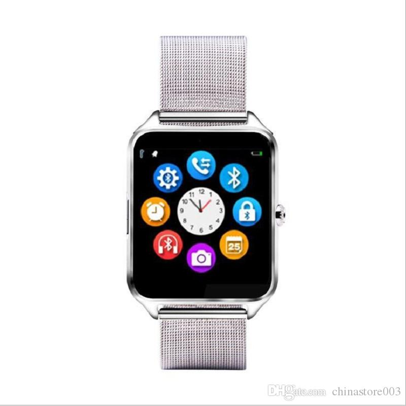 Z60 Smart Watches 2018 Newest Brand Luxury Bluetooth Smart Clock Metal Band Big Screen For IOS Android With SIM TF Card Slot Camera