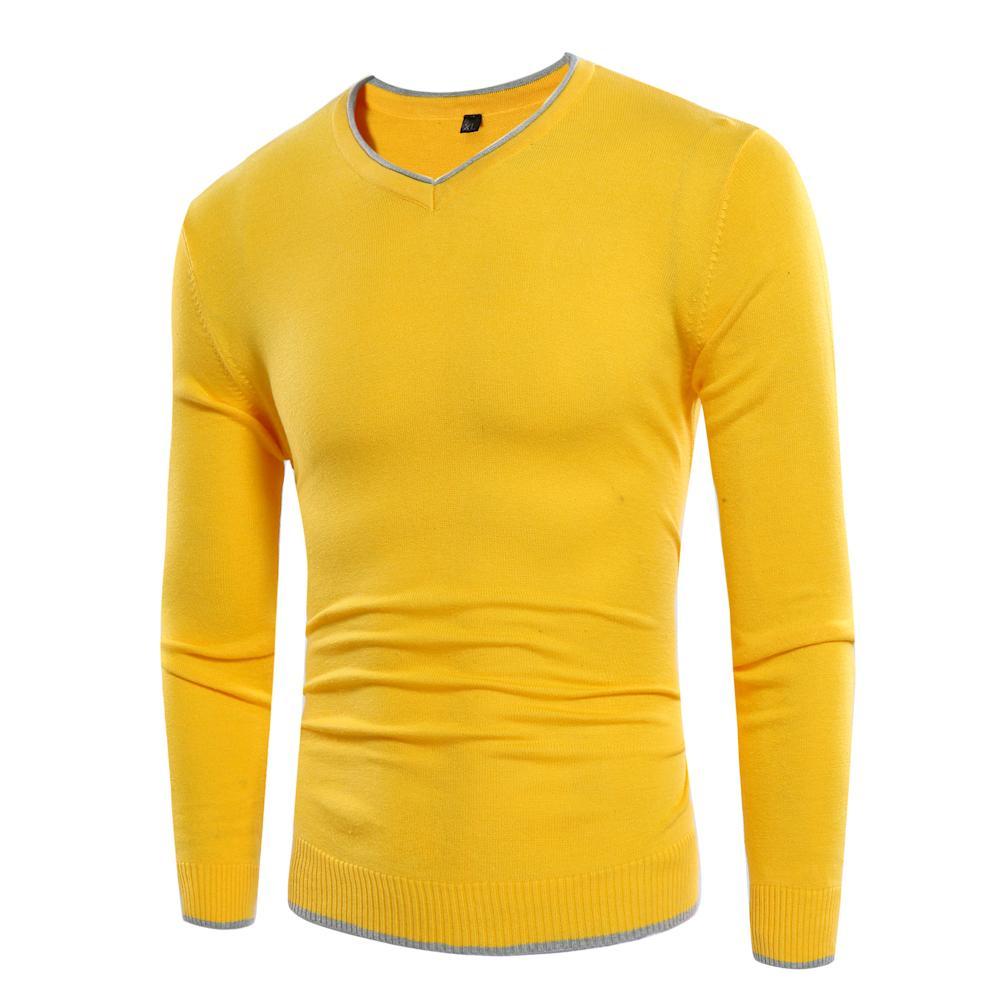 00f110255ab2 Großhandel Herbst Winter Männer Grundlegende V Ausschnitt Pullover Herren  Jumper Korea Slim Fit Mode Qualität Einzigartige Herren Pullover Für 2017  Pullover ...