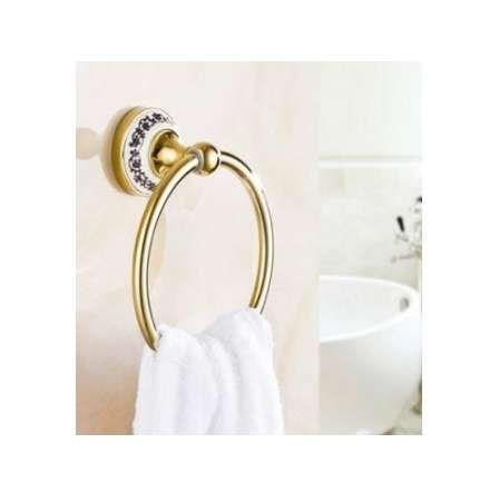 2018 Euro Bathroom Towel Ring Holder Towel Rack Antique Ceramic Decoration  Space Aluminum Bathroom Accessories From Geoda, $30.16 | Dhgate.Com