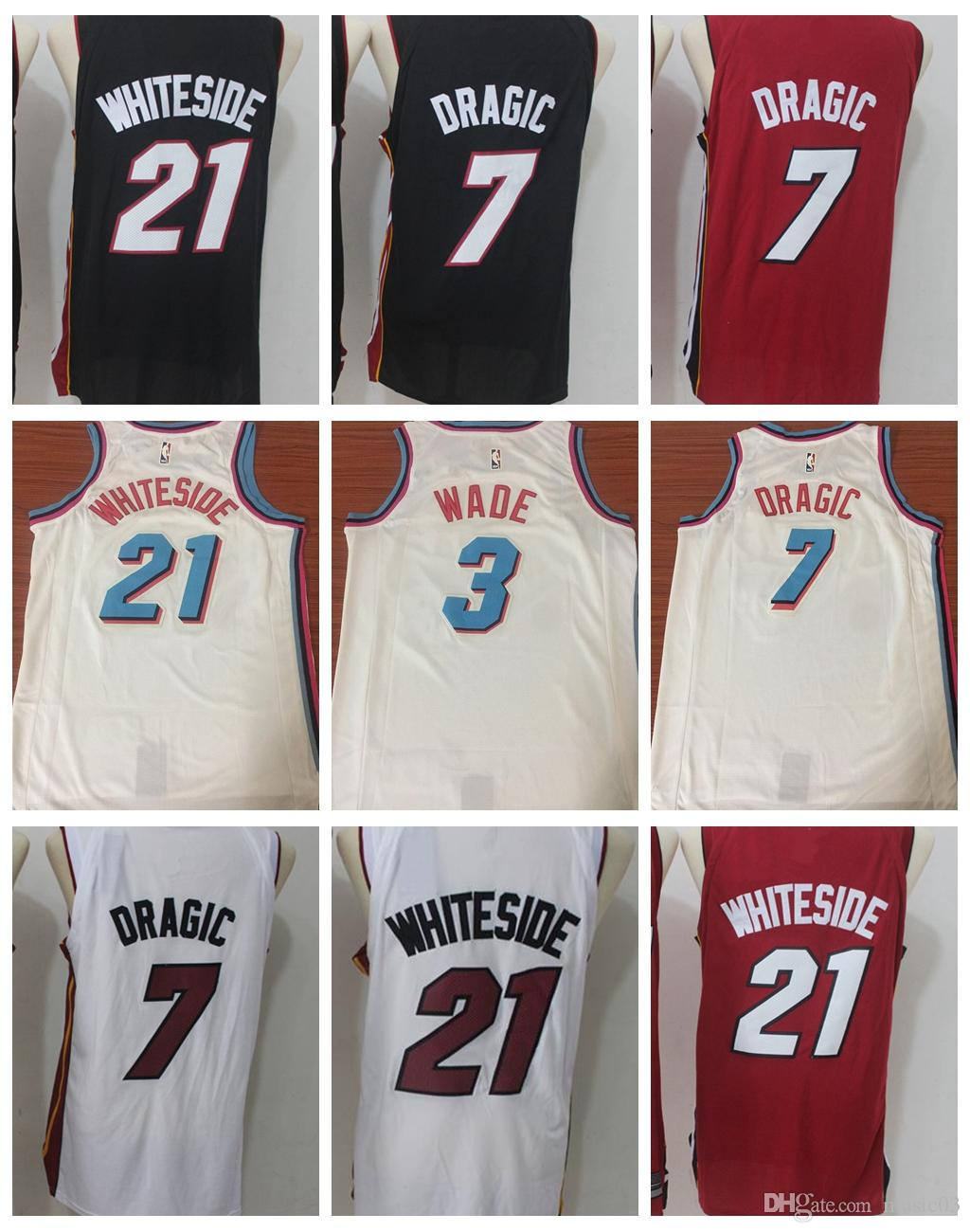 b4af61b0e306 ... best price 2018 new season miami heat men basketball jersey 3 dwyane  wade 7 goran dragic