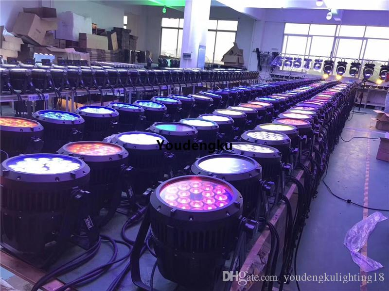 8 stücke par led 18x10 par64 4in1 rgbw 18x10 w led par licht led wasserdicht par licht