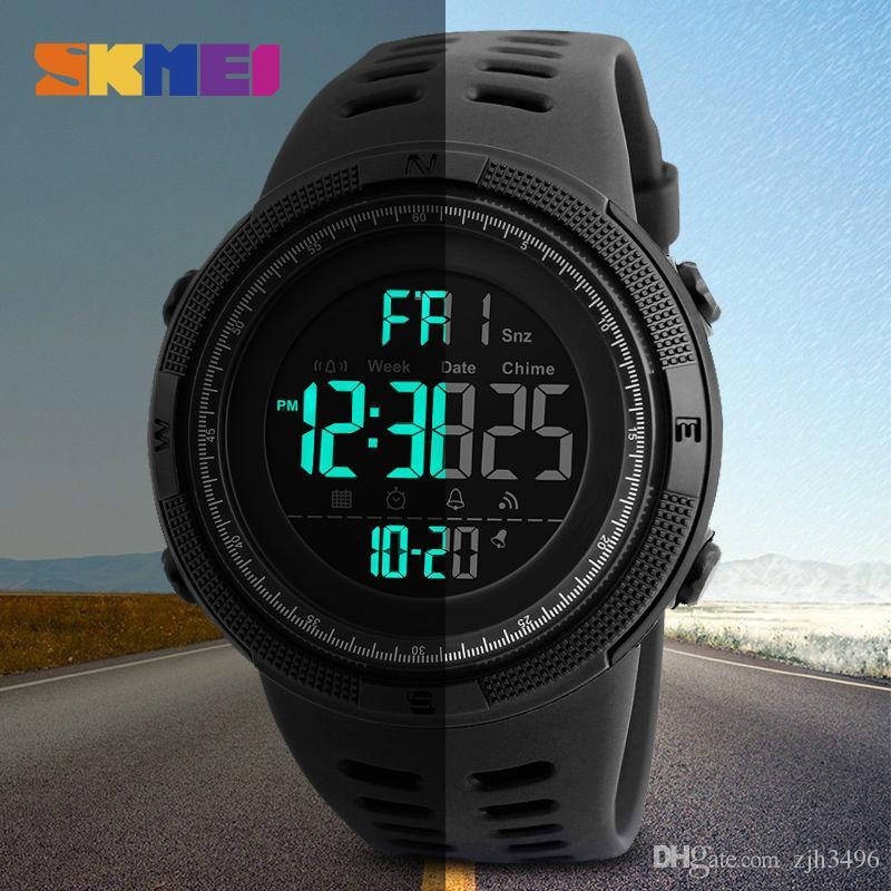 SKMEI Brand Men S Fashion Sports Watches Chrono Countdown Men Waterproof  Digital Watch Man Military Clock Relogio Masculino Discounted Watches  Watches ... 56144b4039