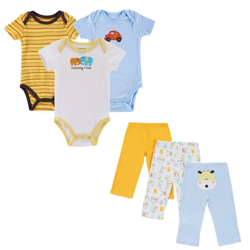 1a403713c208 2017 New Baby Girl Rompers Pants Summer Style Newborn Baby Clothing Sets Boy  Cotton Conjuntos Y18102207 Online with  45.24 Piece on Gou07 s Store