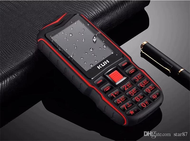 Desbloqueado Original T3 Lanterna À Prova de Poeira à prova de choque velho telefone móvel Dual sim card Tocha Longa Espera PowerBank telefone celular ao ar livre