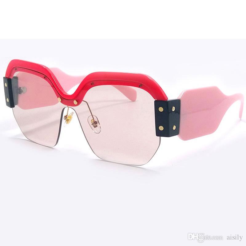 Compre Moda Sexy Gafas De Sol De Gran Tamaño Sin Montura Gafas De ...