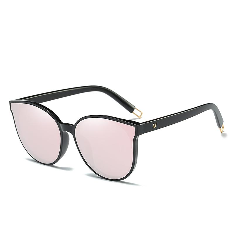 2018 Fashion Women Colour Luxury Flat Top Cat Eye Sunglasses Elegant Oculos  De Sol Men Twin Beam Oversized Sun Glasses Uv400 Prescription Glasses  Online ... 05b9dd65a6