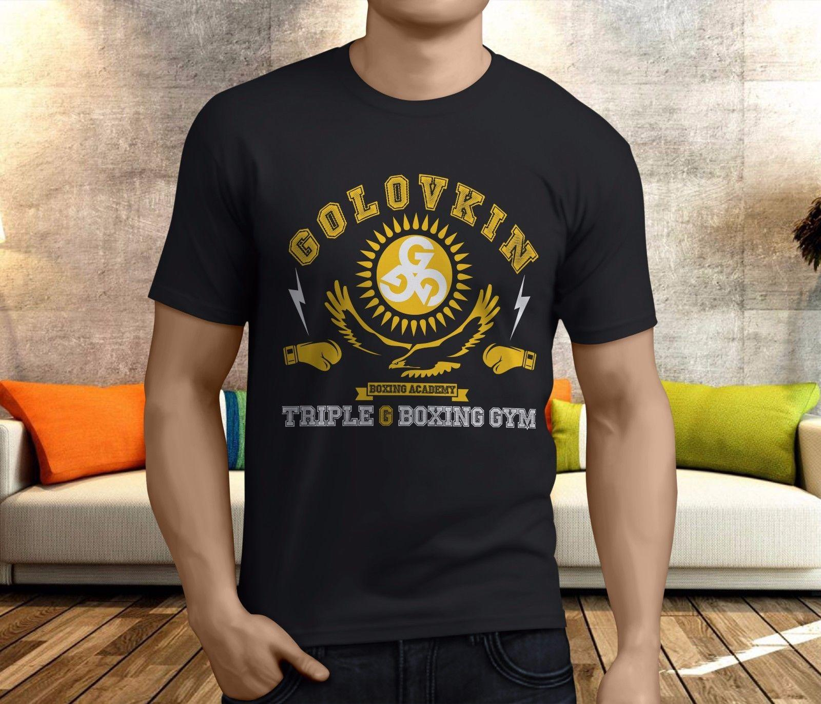 55753644acf90d New Golovkin Triple G Boxing Academy GGG Gennady Men s Black T-Shirt ...