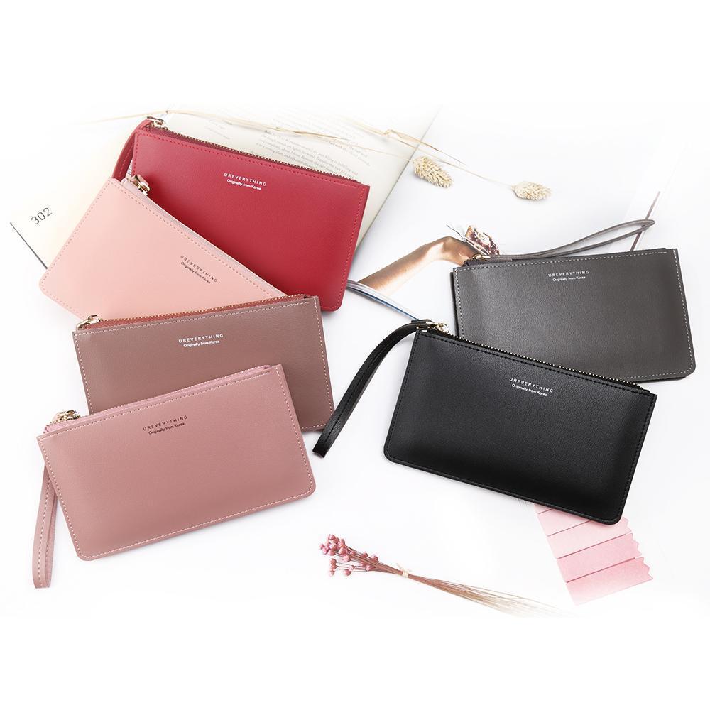 Women Fashion Leather Wrist Strap Wallet Portable Multifunction Long Change Purse Hot Female Phone Coin Zipper Clutch For Girls