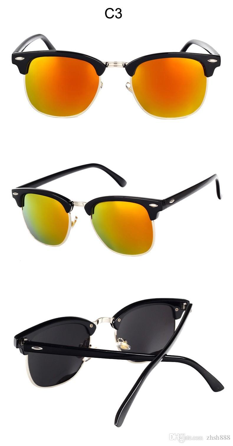 Lunettes de soleil 2018 Grandes lunettes de soleil Lunettes de vue des femmes Lunettes de soleil classiques du pilote Lunettes de soleil pour hommes à la mode Lunettes de vue rouges Cadres lentes de sol