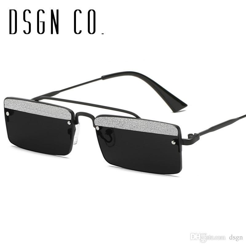 Compre Dsgn Co. 2018 Gafas De Sol Sin Montura Delgadas Sin Marco ...