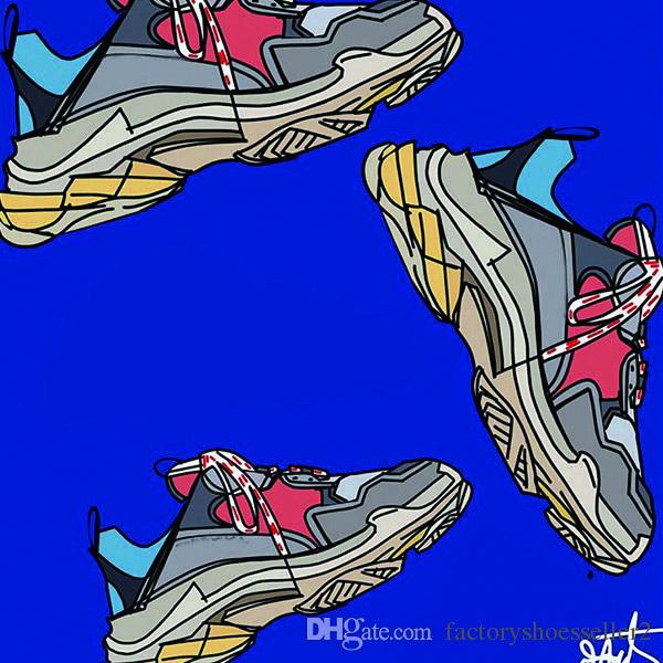 28adcf2f7c38 Paris Designer Luxury Shoes 17FW Triple-S Sneaker 6 Layer Combination  Fashion Casual Retro Day Sport Shoes Women Men 35-45 Without Boxes Designer  Shoes ...