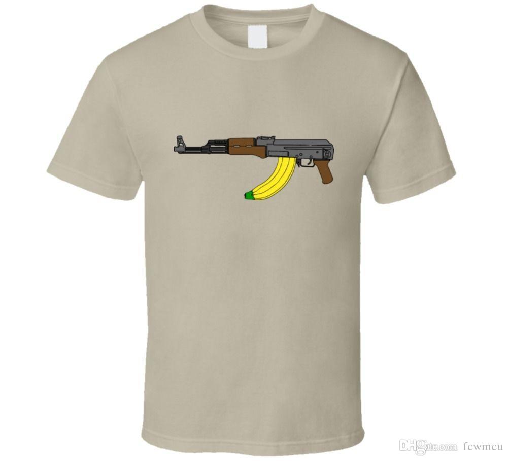 Banana Clip Ak47 Funny Mash Rifle Machine Guns Nra Fan T Shirt With