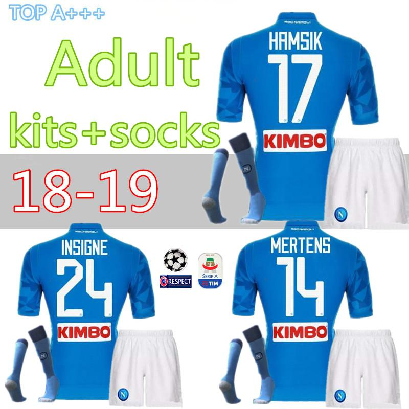67bfd50be 2019 New 18 19 Napoli Soccer Jersey Kits 2018 2019 Naples HAMSIK ZIELINSKI  INSIGNE MERTENS CALLEJON PLAYER Home Football Shirts Kit Best Quality From  Cst726 ...