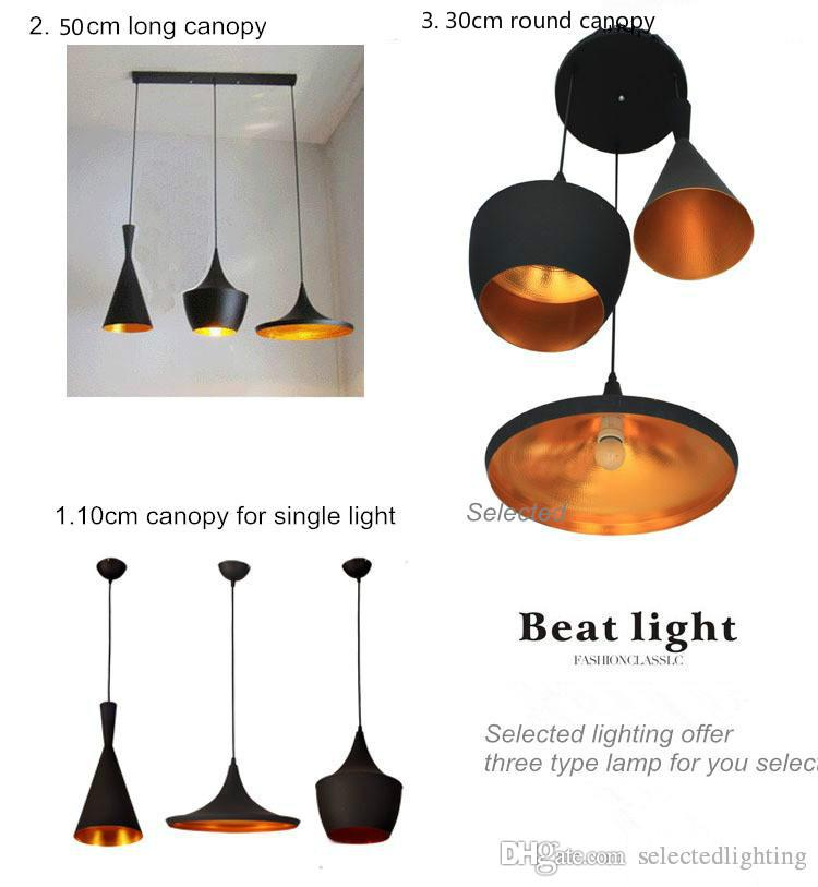 Tom Dixon Tall, Fat , Wide Pendant Lamp Creative DIY Aluminum Pendant Lights Black White Restaurant Bar Chandeliers Light Lights