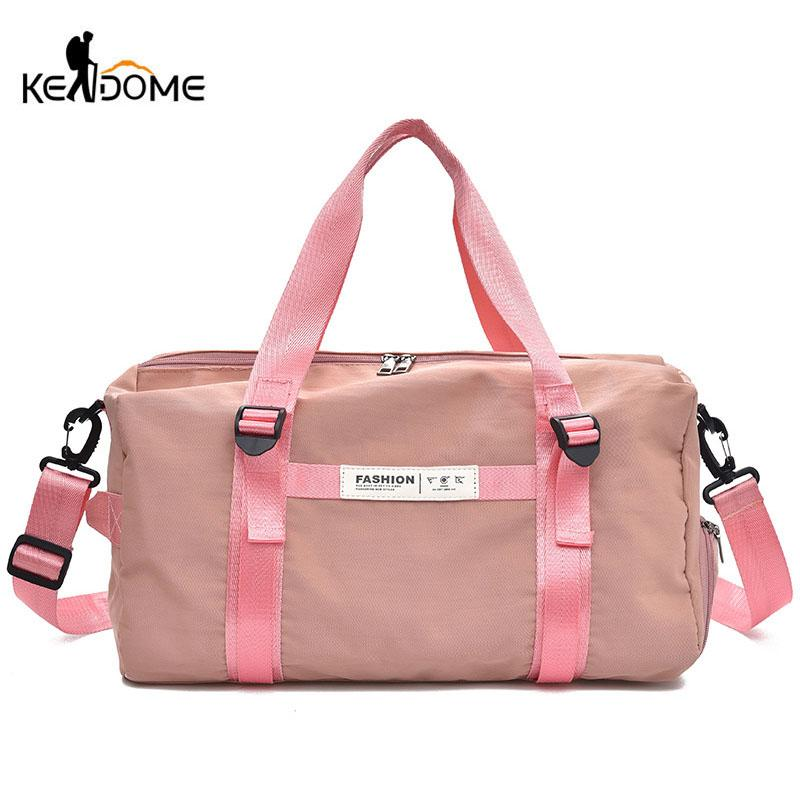2019 Sports Gym Bags Canvas Fitness Yoga Bag Travel Handbags For Shoes Women  The Shoulder Pink Sac De Sport Luggage Duffle XA778WD From Gqinglang d12b0e49565c4