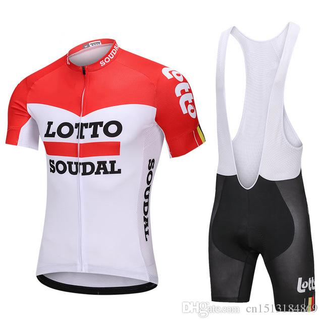 f3bec2492 Cycling Jersey 2018 Pro Team Lotto Short Sleeve Bicycle Clothing Kit Ropa  Ciclismo Summer Quick Dry Mtb Bike Jersey Bib Shorts Set Lotto Cycling  Jersey ...