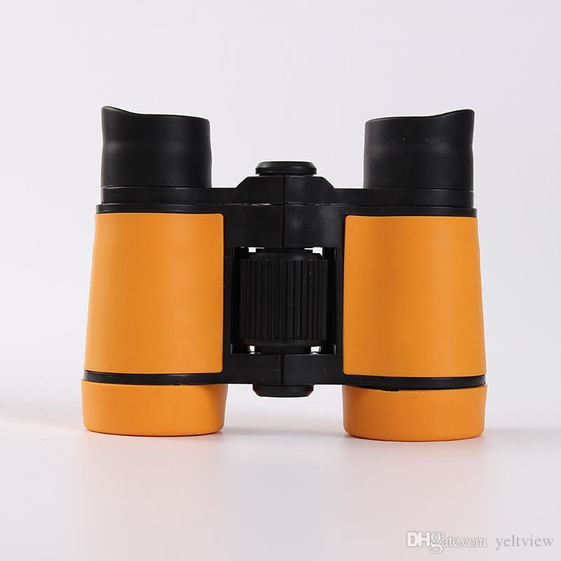 Mini Niños Binoculares 4 x 30 Telescopio de Magnificación de Goma Para Niños estudiantes Juegos Al Aire Libre Niños niñas Juguetes de Regalo