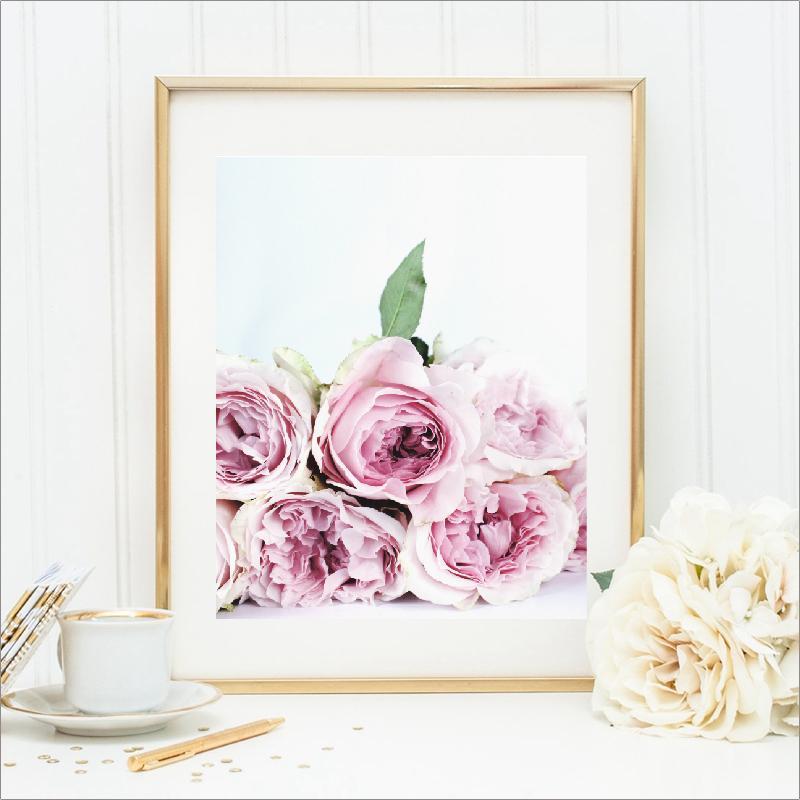 Satın Al Ucuz Boyama Kaligrafi Pembe şakayık Tuval Boyama çiçek