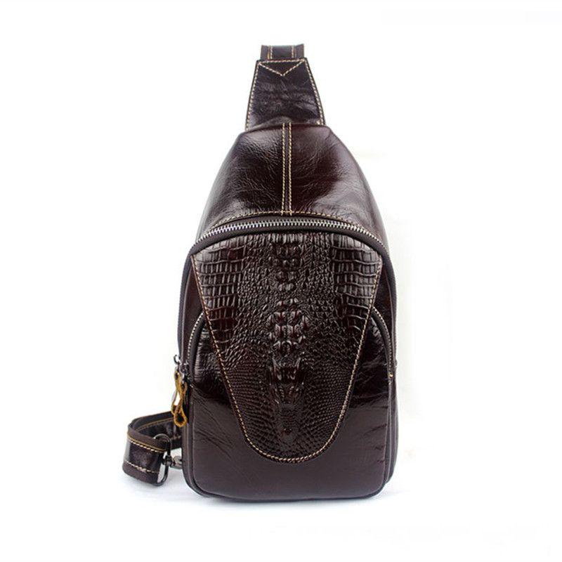 Genuine Leather Bag Men Waist Pack Small Shoulder Crossbody Bags Men  Messenger Bags Brand Leather Belt Chest Bag Male Chest Bag Cute Fanny Pack  Belt Bags ... 4fa03ab6451e1