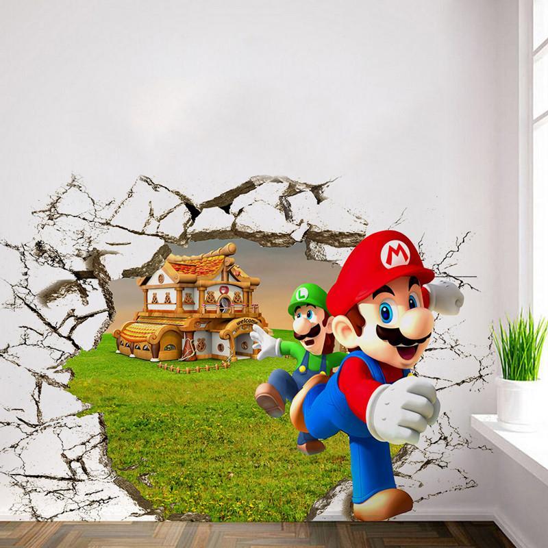 Acheter Enfants Chambre Decoration Anime Affiche Super Drole Mario