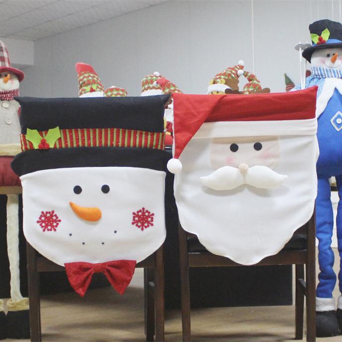 Grosshandel Weihnachten Stuhlhussen Weihnachtsmann Design Schneemann