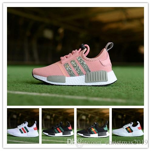 743d4421b Children S Boys Girls NMD R1 Kids Toddler Shoes White Red Pink Crystal  White Sequins Trainers City Sock Sneakers Running Shoes Size 28 35 UK 2019  From ...