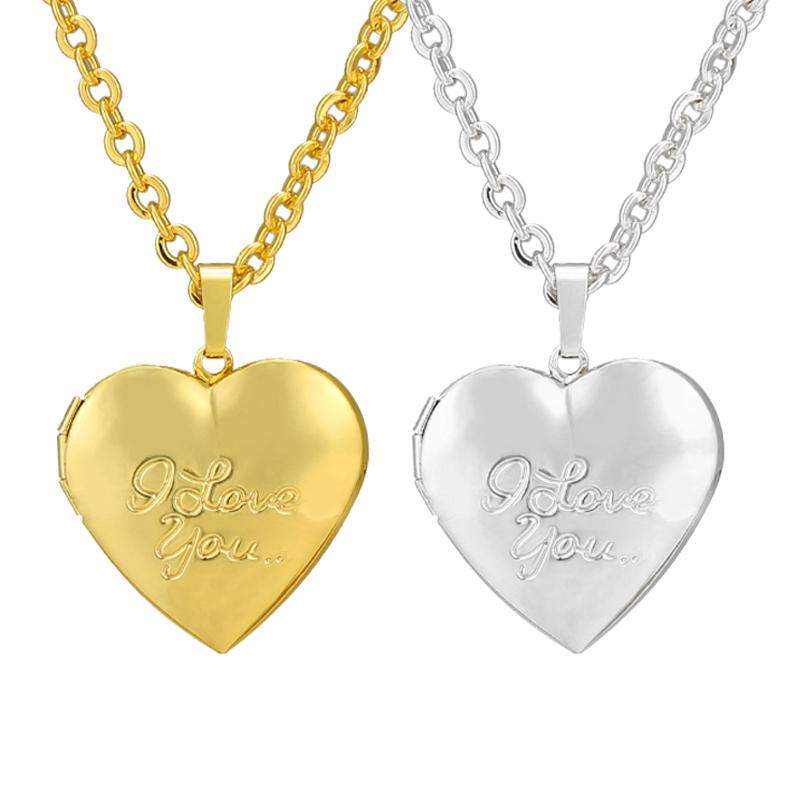 Wholesale Heart I Love You Locket Picture Frame Pendant Necklace ...