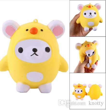 Squishy Kawaii Cute Bear Jumbo Slow Rising Squeeze Toy Collection Cure Gift