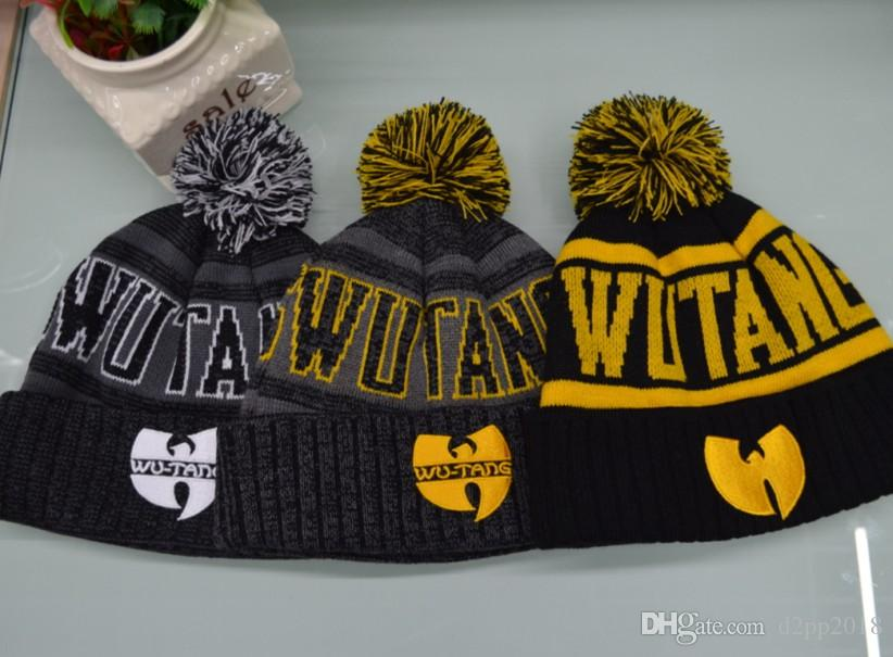 a2c395be192 2019 Winter Wutang WU TANG CLAN Musice Beanie Skullies Knitted Women Wu  Tang Hat HipHop Winter Warm Pompom Hats Gorros Bonnets Caps From D2pp2018