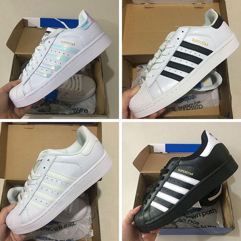 ef3f611c353 Compre 2016 Nueva Adidas Originals Superstar W Sneakers Classic White  Hologram Iridescent Junior Superstars 80s Orgullo Mujeres Hombres Sport  Running Shoes ...