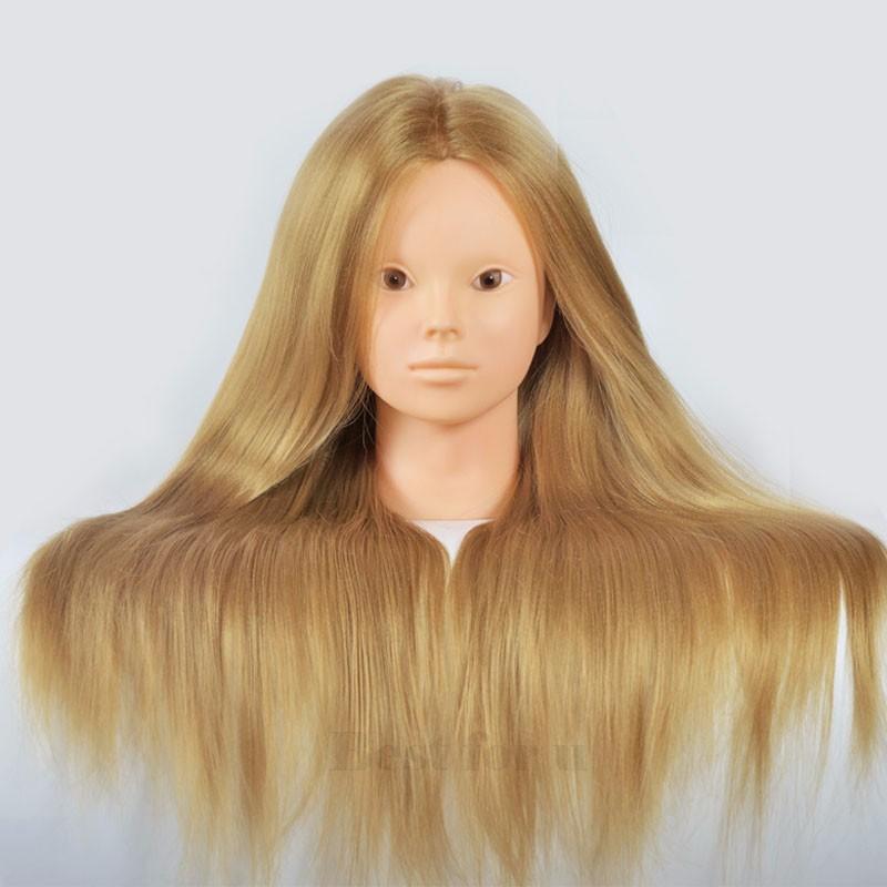 Golden Hiardressing Formação Manequin Cabeça 24 Polegadas De Fibra Sintética Cabeça Com Manequim De Cabelo Manequim Heads Hairstyling Para Venda