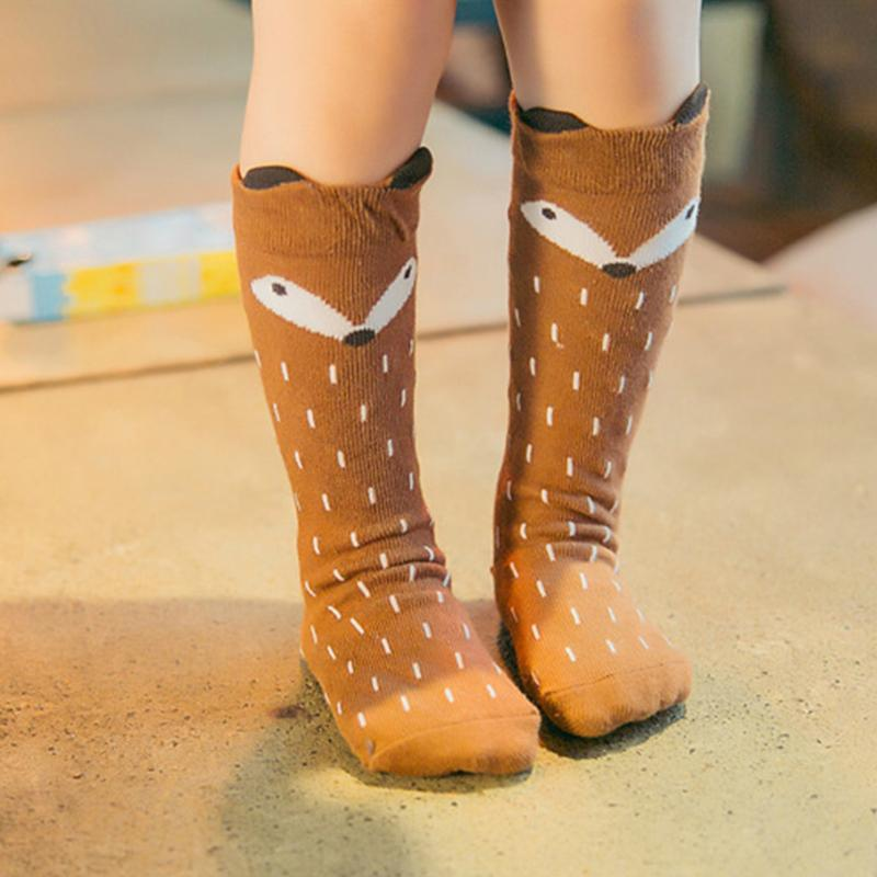 0c46ceaa2bf Autumn Winter Hot Cute Kids Fox Socks Totoro Bear Pancake Cartoon Girls Knee  High Socks Baby Long Socks New Hot Sale Volleyball Socks Wholesale Socks  From ...