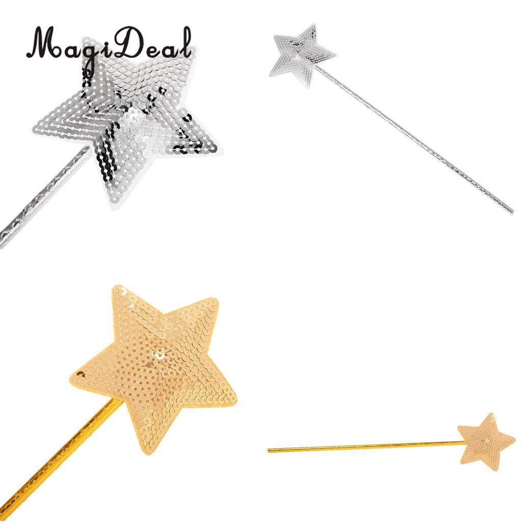 Magideal Plastic Sequin Star Princess Wand Girls Baby Shower ...
