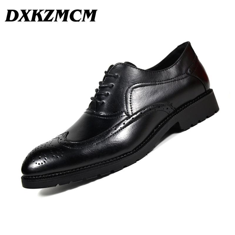 d034200fba16 2018 Men Formal Shoes Microfiber Leather Bullock Men Flats Shoes British  Style Oxfords Fashion Dress For Shoes for Shoes for Men Shoes for Men  Fashion ...