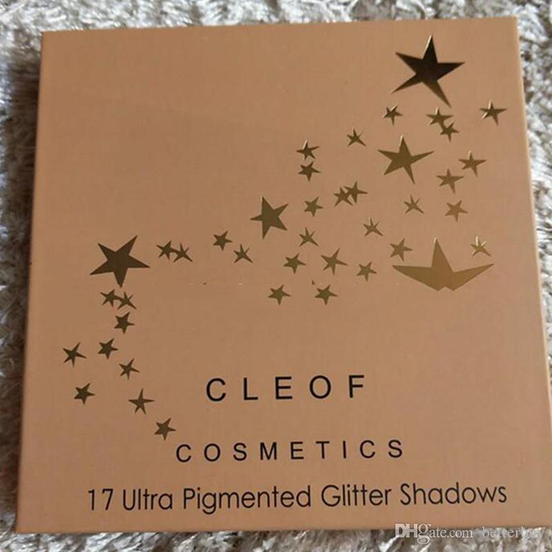 Новый горячий CLEOF 17 ультра пигментированный блеск теней палитра блеск тени CLEOF БДХ