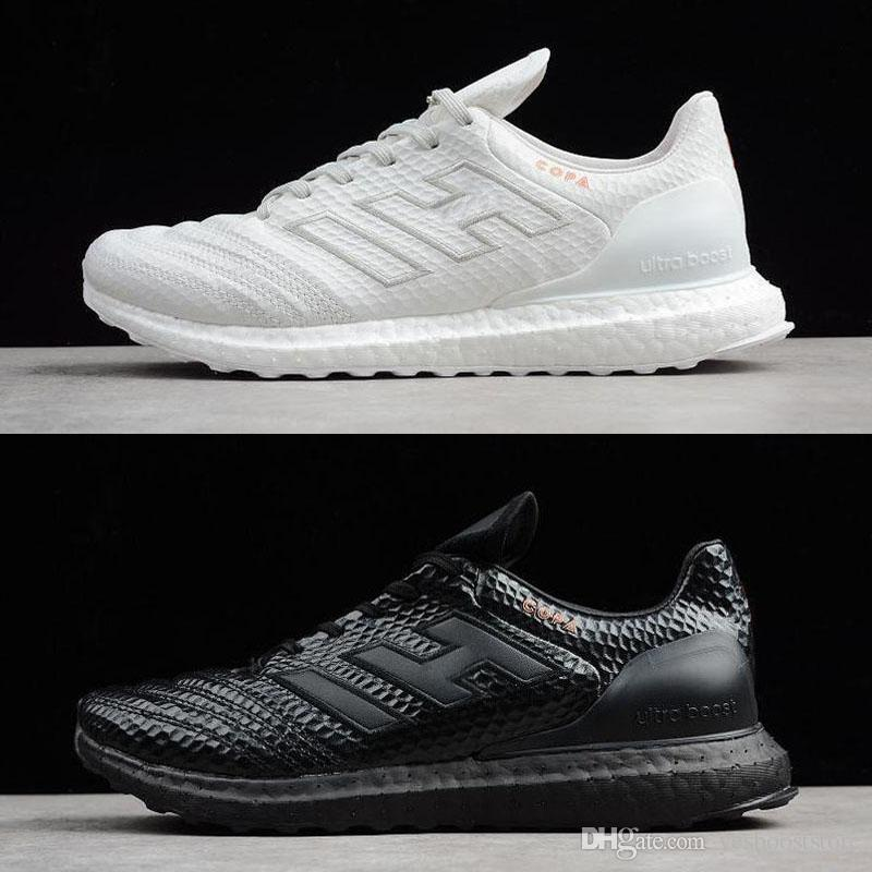 48e1db6568fd3 New 2018 Copa 17.1 Kith Ultra Boost Running Shoes Mens Triple Black White  CM7896 CM7895 UltraBoost Top Quality Sport Sneakers Discount Running Shoes  ...