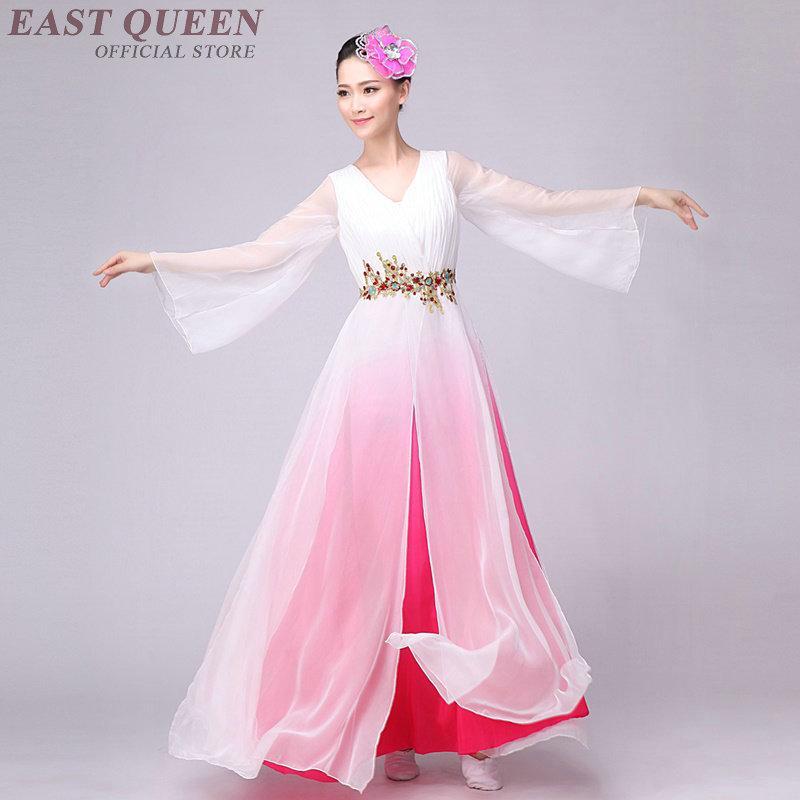 1319f401a 2019 Wholesale Chinese Folk Dance Costume Fan Dance Dress Chinese ...